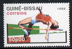 Guinea - Bissau 1988 High Jump 50p from Seoul Olympic Games set of 7, SG 1015 unmounted mint*