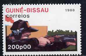 Guinea - Bissau 1988 Rifle Shooting 200p from Seoul Olympic Games set of 7, SG 1016 unmounted mint*