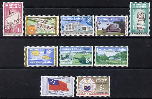 Samoa 1962 Independence def set complete 1d to 5s unmounted mint SG 239-48