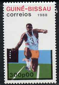 Guinea - Bissau 1988 Triple Jump 300p from Seoul Olympic Games set of 7, SG 1017 unmounted mint*