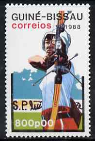 Guinea - Bissau 1988 Archery 800p from Seoul Olympic Games set of 7 unmounted mint, SG 1019*