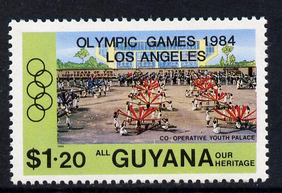 Guyana 1984 Los Angeles Olympic Games opt on $1.20 unmounted mint, SG 1420