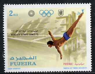 Fujeira 1971 Diving 2r from Munich Olympic Games perf set of 5 unmounted mint, Mi 748*