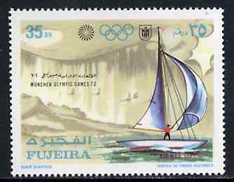 Fujeira 1971 Sailing 35Dh from Munich Olympic Games perf set of 5 unmounted mint, Mi 750*