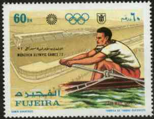 Fujeira 1971 Rowing 60Dh from Munich Olympic Games perf set of 5 unmounted mint, Mi 751*