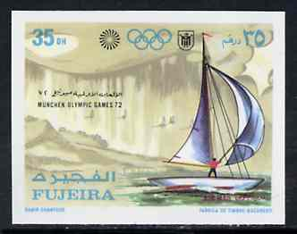 Fujeira 1971 Sailing 35Dh from Munich Olympic Games imperf set of 5 unmounted mint, Mi 750B*