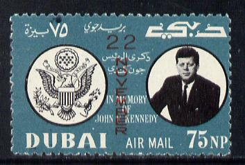 Dubai 1964 First Death Anniversary of Kennedy (opt'd 22 November) unmounted mint expertised on back SG 133