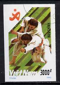 Vietnam 1990 Judo 3000d IMPERF  from Asian Games set of 7 very fine cto used (from very limited printing) Mi 2210*