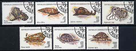Madagascar 1993 Molluscs complete set of 7 very fine cto used, SG 1100-06*