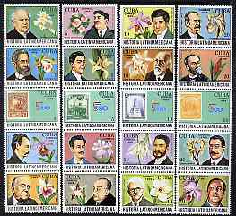 Cuba 1989 Latin American History (4th Series - Flowers) set of 20 unmounted mint, SG 3458-77