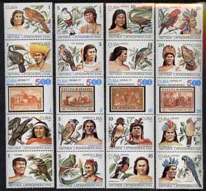Cuba 1987 Latin American History (2nd Series - Natives & Birds) set of 20 unmounted mint, SG 3276-95