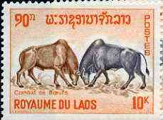 Laos 1965 Bulls in Combat 10k from Laotian Pastimes set unmounted mint, SG 174*