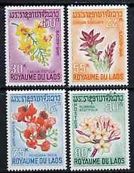 Laos 1967 Flowers complete set of 4 unmounted mint, SG 215-18*