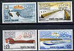 Italy 1955 Cortina Winter Olympic Games set of 4 unmounted mint, SG 926-29, Mi 958-61*