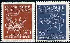 Germany - East 1956 Olympic Games unmounted mint set of 2, SG E277-78