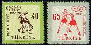Turkey 1956 Melbourne Olympic Games unmounted mint set of 2, SG 1642-43*
