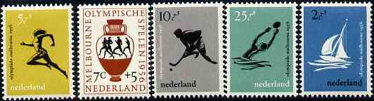 Netherlands 1956 Melbourne Olympic Games unmounted mint set of 5, SG 831-35*
