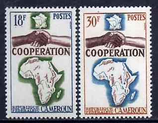 Cameroun 1964 French, African & Malagasy Co-operation unmounted mint set of 2, SG 373-74