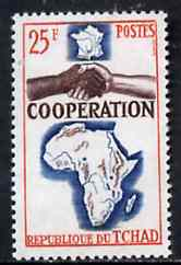 Chad 1964 French, African & Malagasy Co-operation 25f unmounted mint, SG 125
