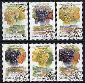 Hungary 1990 Wines Grapes & Regions complete set of 6 very fine cto used, SG 3992-97, Mi 4101-06*