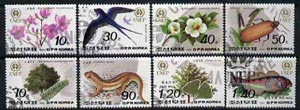 North Korea 1992 World Environment Day complete set of 8 values very fine cto used, SG N3200-07*