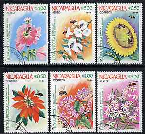 Nicaragua 1984 Agricultural Flowers complete set of 7 very fine cto used, SG 2577-83*
