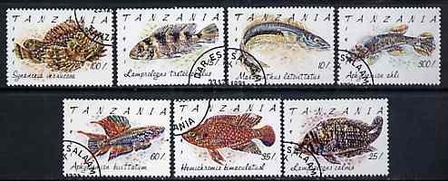 Tanzania 1992 Fishes complete set of 7 fine cds used, SG 1136-42*
