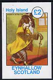 Eynhallow 1982 Pets From fairy Tales (Dog Dressed up in his New Suit) imperf deluxe sheet (�2 value) unmounted mint