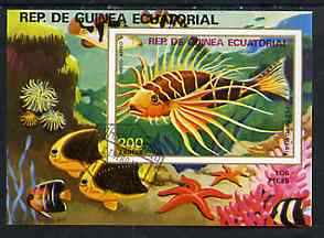 Equatorial Guinea 1975 Fish (Fish on Sea Bed) 200ek perf m/sheet very fine cto used