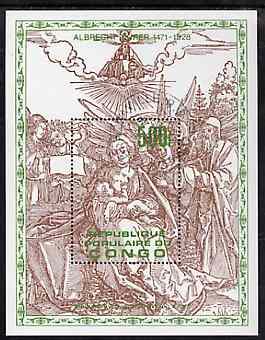 Congo 1978 Death Anniversary of Durer perf m/sheet fine cto used, SG MS 682