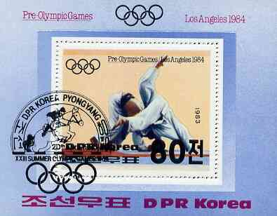 North Korea 1984 Los Angeles Olympics m/sheet (Judo) fine cto used, SG MS 2365