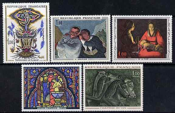 France 1966 French Art - set of 5 unmounted mint SG 1710-14
