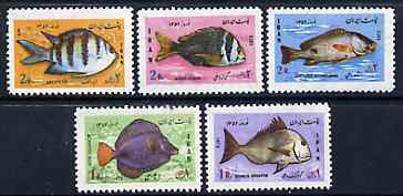 Iran 1973 New Year Festival (Fish) unmounted mint set of 5, SG 1766-70*