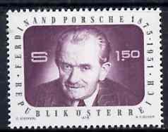 Austria 1975 Birth Centenary of Prof Ferdinand Porsche (Motor Engineer) unmounted mint, SG 1740