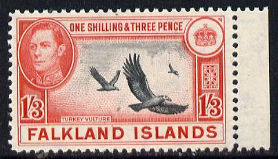 Falkland Islands 1938-50 KG6 Turkey Vulture 1s3d unmounted mint, SG 159