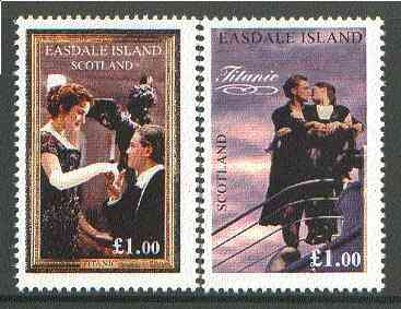 Easdale 1998 Scenes from the Film 'Titanic' set of 2 x \A31 values unmounted mint*