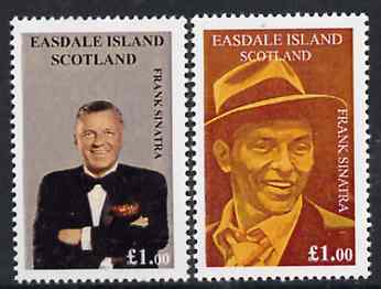Easdale 1998 Frank Sinatra set of 2 x \A31 values unmounted mint