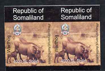 Somaliland 1997 Warthog 4,000 SL (from Animal def set) unmounted mint imperf pair