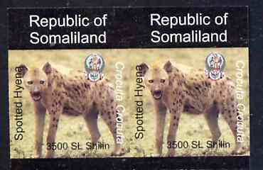 Somaliland 1997 Hyena 3,500 SL (from Animal def set) unmounted mint imperf pair