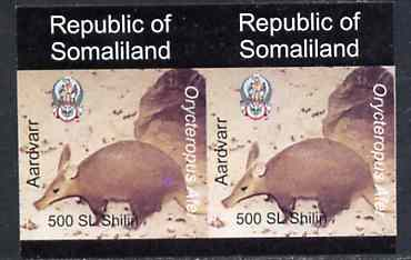 Somaliland 1997 Aardvark 500 SL (from Animal def set) unmounted mint imperf pair