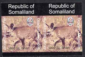 Somaliland 1997 Bat-Eared Fox 1,000 SL (from Animal def set) unmounted mint imperf pair