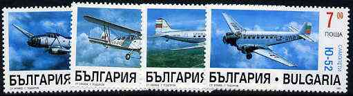 Bulgaria 1995 Aircraft complete set of 4 unmounted mint, SG 4031-34*