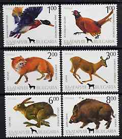 Bulgaria 1993 Hunting complete set of 6 unmounted mint, SG 3940-45, Mi 4083-88*