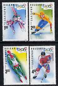 Bulgaria 1994 Lillehammer Winter Olympic Games complete set of 4 unmounted mint, SG 3956-59, Mi 4103-06*, stamps on , stamps on  stamps on sport, stamps on  stamps on olympics, stamps on  stamps on skiing, stamps on  stamps on skating, stamps on  stamps on ice hockey, stamps on  stamps on bobsled