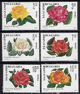 Bulgaria 1994 Roses complete set of 6 unmounted mint, SG 3990-95, Mi 4138-43*