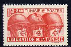 Tunisia 1943 Tunisian Liberation 1f50 + 8f50 (Allied Soldiers) unmounted mint SG 233*