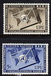 United Nations (NY) 1953 Universal Postal Union set of 2 unmounted mint (SG 17-18)