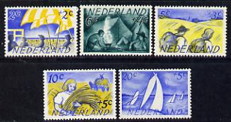Netherlands 1949 Scouts Cultural Fund set of 5 unmounted mint SG 679-83