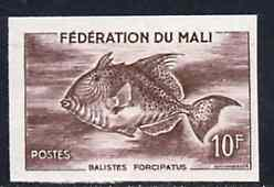 Mali 1960 Trigger Fish 10f unmounted mint imperf colour trial proof (several different combinations available but price is for ONE) as SG 4