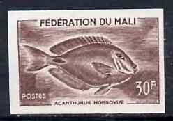 Mali 1960 Surgeon Fish 30f unmounted mint imperf colour trial proof (several different combinations available but price is for ONE) as SG 8